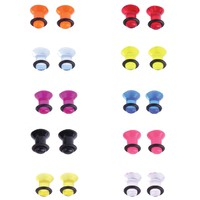 BodyJ4You Plugs Set Acrylic Single Flare Mixed Colors 2G 6mm Piercing Jewelry Kit 20 Pieces