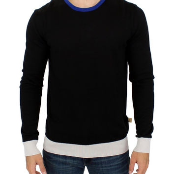 Costume National Black striped crewneck sweater
