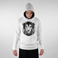 White Lion 2017 fitted throw on hoodie