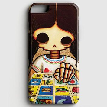 Day Of The Dead Skeleton Girl iPhone 8 Case