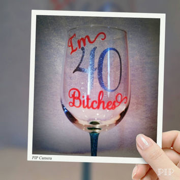 Wine Glass Decal for the DIY in you...Birthday, Tumbler, Beer Mug, Gift