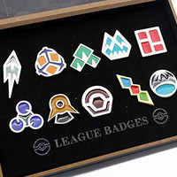 Pokemon Gym Badges set of 8PCS (Grey)