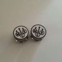 My Chemical Romance Plugs 2g 6mm - 1 inch 25mm