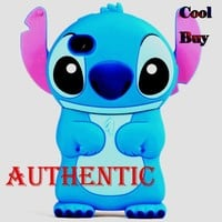 Cool Buy's Authentic Blue Lilo and Stitch 3D Movable Ear Flip Hard Case Cover For Apple iPhone 4S / 4 -- Has One Year Warranty Only Sell By Cool Buy (Please Compare the Quality)