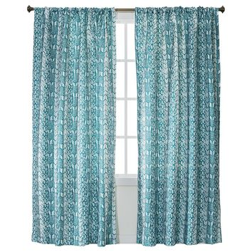 "Xhilaration® Feather Chevron Light Blocking Window Panel - Turquoise (50x84"")"