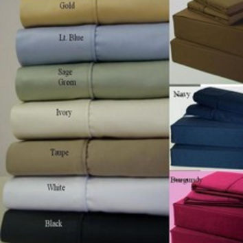 Egyptian Cotton 600 TC Pillow-Top Bed Sheet Sets