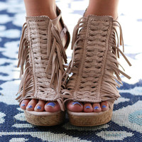 NOT RATED Strappy Nude Wedges