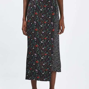 Mix Print Wrap Skirt by Boutique - Skirts - Clothing