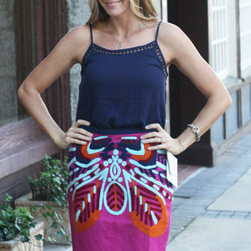Ornate Pencil Skirt by Missy Robertson