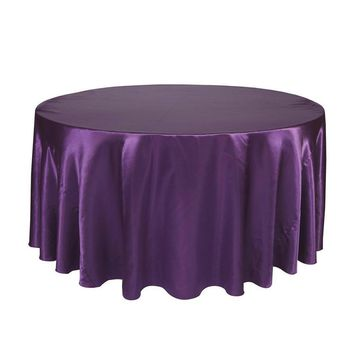 Round Table Cloth Topper Tablecloth Luxury Polyester Satin Table Cover Oilproof Wedding Party Restaurant Banquet Home Decoration