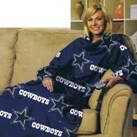 NFL Football Dallas Cowboys Comfy Throw ~ Blanket with Sleeves - Large Unisex Adult Size