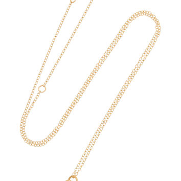 Alison Lou - Tongue Out 14-karat gold, diamond and enamel necklace