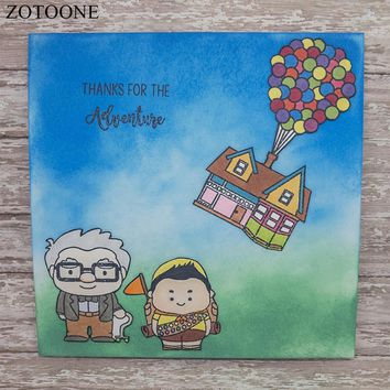 ZOTOONE New DIY Photo Album Decoration UP Vintage Sellos Stamps for Card Making Clear Stamps for Scrapbooking Christmas Stamps E