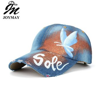 Trendy Winter Jacket JOYMAY 2018 New Arrival Sole Butterfly Painting Jean Baseball Cap Adjustable Hip Hop Cap Leisure Casual Snapback HAT B458 AT_92_12