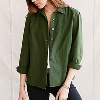 Urban Renewal Vintage Swedish Shirt Jacket- Green