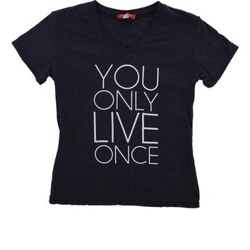Butter Kids Printed YOLO Tee - Navy