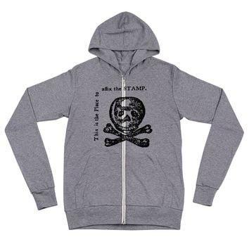 Stamp Act Unisex Tri-Blend Lightweight Zip Hoodie