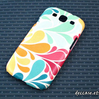 SAMSUNG GALAXY S3 case galaxy 3 s cover - colors water drop sea garden