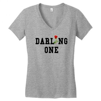 darling one Women's V-Neck T-Shirt