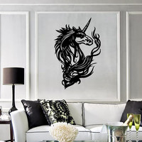 Wall Stickers Vinyl Decal Unicorn Fantasy Mythical Animal Legend ig158
