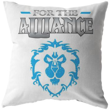 """World of Warcraft """"For the Alliance"""" Pillow"""