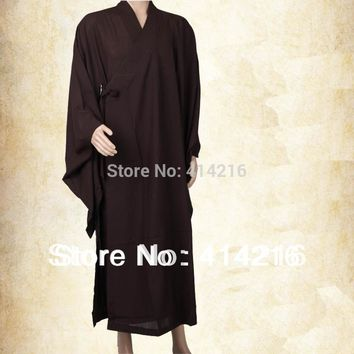 Buddhist  monks clothes abbot lay meditation martial arts suits clothing robes Haiqing Gown unisex ZEN SENFU