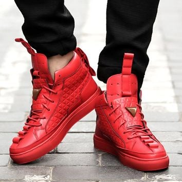GRAM EPOS 2018 New Spring Autumn Men red black white Casual Shoes Men High Tops Fashion Shoes Zapatos De Hombre Male botas