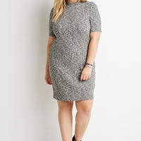 Mock Neck Ribbed Dress