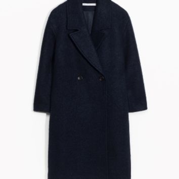 & Other Stories | Wool-Blend Coat | Dark Blue