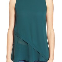 Leith Mock Neck Sleeveless Top | Nordstrom