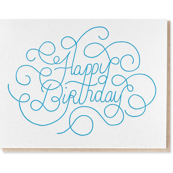 birthday swirl card