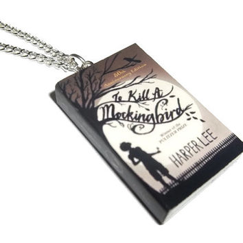 To Kill a Mockingbird Necklace, Harper Lee, Miniature Book Necklace, Bookmark or Earrings