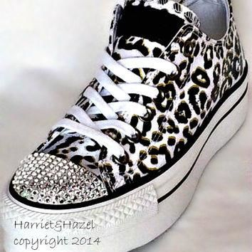 Converse Chuck Taylor? All Star? Platform in Cheetah print with Swarovski crystal deta