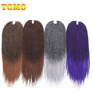 LMF78W TOMO 22 inch Medium Ombre Crotchet Braids 22roots Kanekalon Synthetic Hair For Braiding Senegalese Twist Crochet Hair Weave