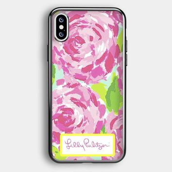 Lilly Pulitzer First Impression Rose Inspired iPhone XS Case   Casefruits