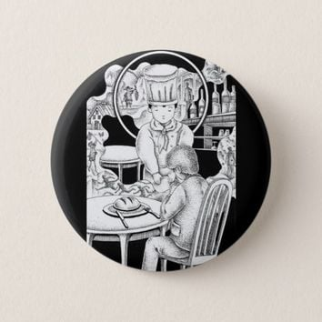 Memorable restaurant pinback button