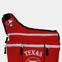 Infant Diaper Dude 'Texas Rangers' Messenger Diaper Bag