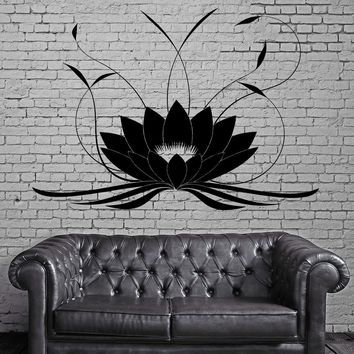 Lotus Flower Buddha Wall Stickers Yoga Studio Meditate Wall Tattoo Home Design Waterproof Wall Sticker Vinyl Wall Decal D284C