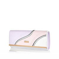 River Island Womens Pink swirl front purse