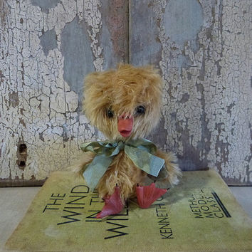 MADE TO ORDER. Dudley the Duckling: vintage style, soft sculpture, artist bear, animal (duck)