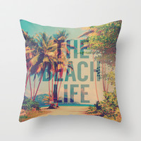 Beach Life Throw Pillow by M Studio