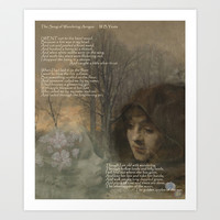 The Song of Wandering Aengus Art Print by anipani