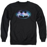 BATMAN/GALAXY 2 SIGNAL - ADULT CREWNECK SWEATSHIRT - BLACK -