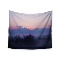 "Angie Turner ""Purple Sunrise"" Blue Pink Wall Tapestry"