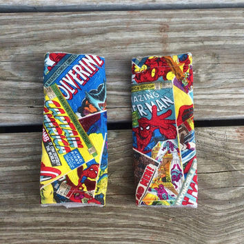 Seat belt cover, super heros, stroller strap covers, 5-point harmess, Marvel comics, spiderman