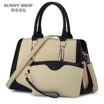 SUNNY SHOP Brand New Women Bag Alligator Pattern Women Messenger Bags American Handbags High Quality Shoulder Bags With Wallet