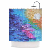"Carol Schiff ""Four Seasons - Summer"" Blue Yellow Painting Shower Curtain"