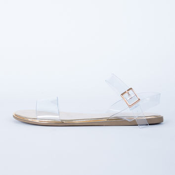 Clear Strapped Sandals