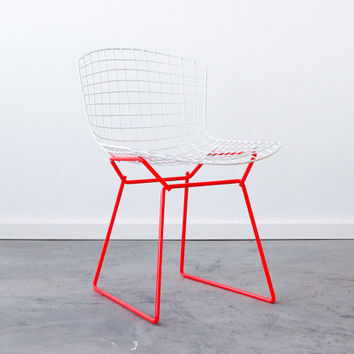 C&C - BERTOIA for Knoll Side Chair - Dayglo Coral