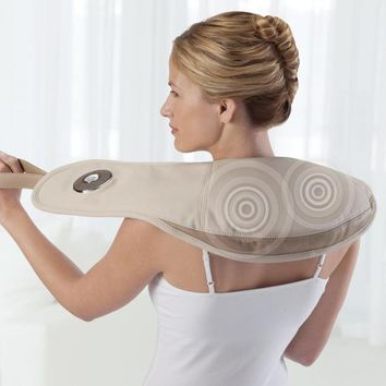 i-need Pro Neck & Shoulder Massager with Heat at Brookstone—Buy Now!